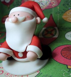 6 Santa Claus Cupcake Toppers for Christmas Parties and Winter Events