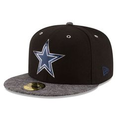 Cowboys New Era 2016 NFL Draft Shadow Tech 59FIFTY Fitted Hat - Heathered  Gray Black 143db99aa37