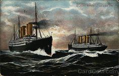 Schnelldampfer Kronprinzessin Cecilie . Kaiser Wilhelm II auf hoher See Germany
