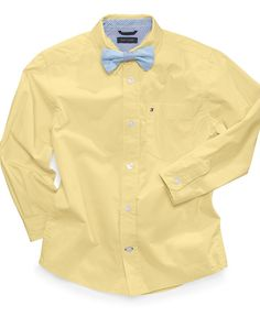 Tommy Hilfiger Kids Shirt, Little Boys Winston Solid Poplin Shirt - Kids Toddler Boys (2T-5T) - Macy's