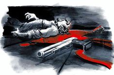 Painting isaac dead company gun