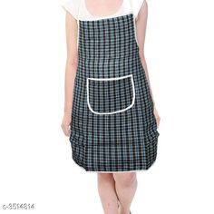 Aprons  Classy Stylish Cotton Apron Material:  Cotton Size: 50 in Length : Up To 27 in  Colour : Blue  Description:It Has 1 Piece Of Apron Pattern: Checkered Sizes Available: Free Size *Proof of Safe Delivery! Click to know on Safety Standards of Delivery Partners- https://ltl.sh/y_nZrAV3  Catalog Rating: ★4 (7218)  Catalog Name: Free Mask Classy Stylish Cotton Apron Vol 4 CatalogID_489261 C129-SC1633 Code: 631-3514814-