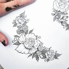 Flower wreath tattoo