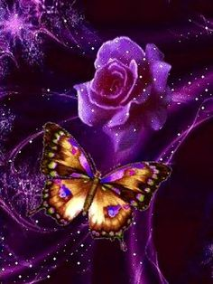 Find GIFs with the latest and newest hashtags! Search, discover and share your favorite Beautiful Nature GIFs. The best GIFs are on GIPHY. Butterfly Kisses, Butterfly Flowers, Beautiful Butterflies, Beautiful Roses, Purple Flowers, Purple Butterfly, Beautiful Gifts, Pretty Roses, Beautiful Friend