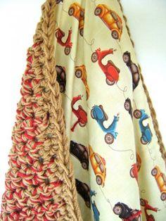 couverture de tissu au crochet