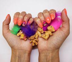 Tremendous Troll Nail Art with Evo Amber Statement Nail, Bio Sculpture, Nail Art Designs, Nails Design, Halloween Nail Designs, Nails Inspiration, Troll, Manicure, Evo
