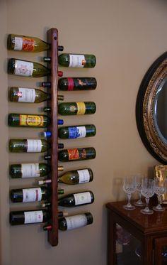 Wine Rack  wine bottle holder by BoardGrainWoodworks on Etsy