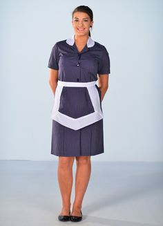 Hotel Uniform, Maid Uniform, Maid Outfit, Maid Dress, Long Blouse, Sheer Blouse, Nylons, School Pinafore, Blouse Nylon