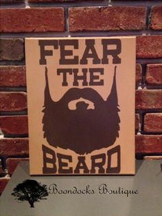 Fear the Beard Man CaveHandpainted/Wood Decor by BoondocksBoutique, $23.00