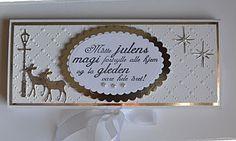 Velkommen inn: 3 sjokoladekort i hvitt og sølv:) Money Envelopes, How To Make Paper Flowers, Marianne Design, September 2013, Christmas Cards, Projects To Try, Paper Crafts, Frame, Handmade