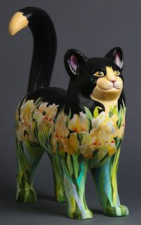 Click the pic to read the article:  Meet the Painted Cats - Part 4 The Painted Cats are even more stunning in person.  From now through August 27th, you can stop by the Main Street Fine Art Gallery, located at 28186 Colorado 74 #4, Evergreen, CO 80439 to see all of this year's Painted Cats.