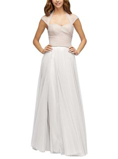 e19a25caf889 DescriptionWatters Lotus SkirtFull length bridesmaid skirtLayered with  flyaway tulle panels adding extra movement to a-
