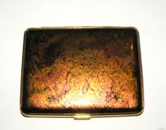 German Cigarette Case Germany Marbled Color Exterior Push Button