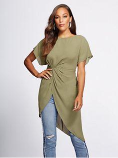 be2731591e1d Hi-Lo Tunic Blouse - Gabrielle Union Collection
