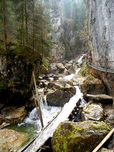 Pöllatalschlucht - wąwóz potoku Pollatal, #Bawaria, Wycieczka do Bawarii, Wyjazd szlakiem zamków Ludwika Bawarskiego, Alpy Bawarskie