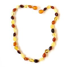 Multicolor baltic amber baby teething knotted by BalticAmbers, $11.99