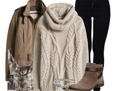 Der grobe Strickpulli von Esprit ist das Kernstück dieses tollen Winter-Outfits. Mit schwarzen Skinny-Jeans, Stiefeletten und Parka kombiniert vereint das Outfit alle Trends für diesen Winter.