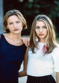 Zoe Cassavetes and Sofia Coppola in the '90s.