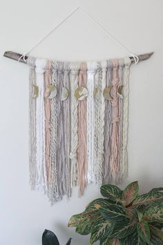 This list is for a special moon thread yarn wall hanger! I'm excited to work unique and special … – Sophisthica Yarn Wall Art, Yarn Wall Hanging, Diy Wall Art, Wall Hangings, Easy Crafts For Teens, Diy And Crafts, Wall Hanging Designs, Macrame Projects, Boho Diy