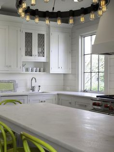For kitchen backsplashes, nothing beats a good, classic white subway tile in my book. There are so many varieties- beveled, small, narrow, crackly glazed, hand-formed- but even so, sometimes you want to use something a little different without making a huge statement. That's why all of the sudden I am swooning for kitchens with shiplap …