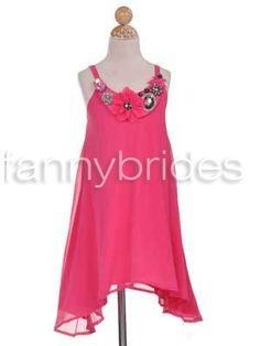 Hot Selling Ball Gown Spaghetti Straps Sleeveless Short-length Flower and Ruffles Organza Flower Girl Dress - Fannybrides.com