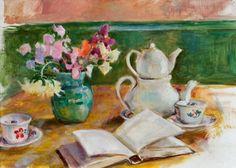 Ainon terassi avautuu Järvenpää-talolla   Keski-Uusimaa Eero Järnefelt Finland Tea, Painting, Painting Art, Paintings, Painted Canvas, Teas, Drawings