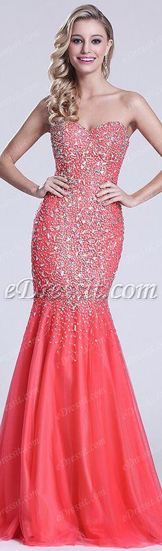 Breathtaking! #edressit #prom_dress #coral #evening_dress #fashion #girl