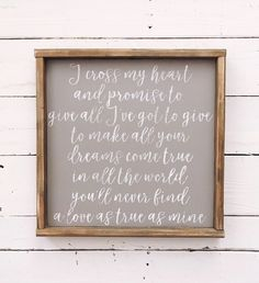 I cross my heart George Strait love song farmhouse sign https://www.etsy.com/listing/515734510/i-cross-my-heart-george-strait-love-song