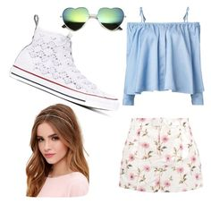 """""""Untitled #23"""" by immortalheart on Polyvore featuring Sandy Liang, RED Valentino, Converse and Lulu*s"""