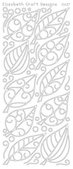 I wonder. Could I use the peel offs as embossing templates? Elizabeth Craft Designs Peel-off Stickers Leaves Elizabeth Craft Designs, Beaded Embroidery, Embroidery Patterns, Paper Embroidery, Doily Patterns, Dress Patterns, Stitch Patterns, Colouring Pages, Coloring Books