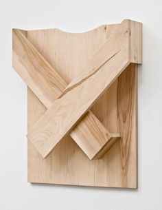 "Michael Krebber (b. 1954) ""Sweater (#4)"", 2010. Wood, 61 x 20.4 x 11.4 cm"