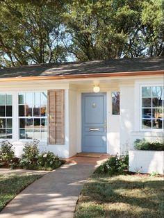 Fixer Upper: Welcome Home—Episode 3 | Magnolia Home Renovation, Home Remodeling, Magnolia Fixer Upper, Magnolia Homes, Exterior Paint, Interior And Exterior, Interior Design, Brick Planter, Brick Ranch