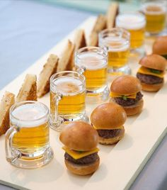 Event, This would be the perfect catering idea to have for a cocktail party. Tiny beers and sliders!