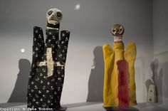 """""""Bauhaus: Art as Life"""", Barbican Art Gallery, 3 May - 12 August 2012, London, Britain. Exploring the world's most famous modern art and design school, Bauhaus: Art as Life is the biggest Bauhaus exhibition in the UK in over 40 years. Picture shows: Puppets by Paul Klee. L to R: Ghost of a Scarecrow, Electrical Spook."""