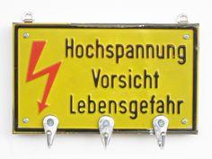 """Schlüsselbrett """"Hochspannung"""" von Ringelspatz auf DaWanda.com"""
