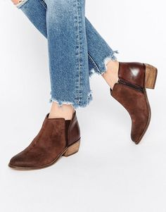 Dune+Penelope+Brown+Suede+Ankle+Boot