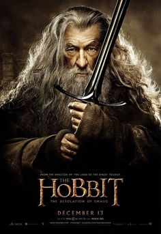 NUEVO PÓSTER de  Gandalf antes del estreno de ' El Hobbit: Ladesolación de Smaug'