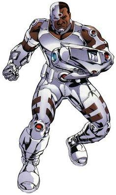 Cyborg from DC Comic's Teen Titans. Cyborg Dc Comics, Arte Dc Comics, Female Superheroes And Villains, Dc Comics Superheroes, Marvel E Dc, Marvel Comics, Comic Art, Comic Books, Arte Nerd