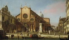 Canaletto (Antonio Canal, dit), Le Campo Santi Giovanni e Paolo Vers 1738 - 1739 : Huile sur toile, 46,4 x 78,1 cm, Londres, The Royal Collection, lent by Her Majesty Queen Elizabeth II Supplied by Royal Collection Trust © HM Queen Elizabeth II 2012