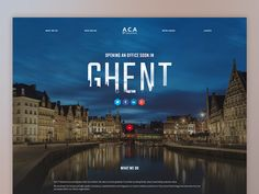 Landing page :: New office in Ghent