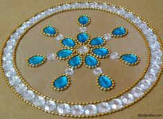 This is so beautiful and easy to make. Click picture for instructions. Make it on a mirror