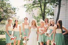 bridemaids in mint