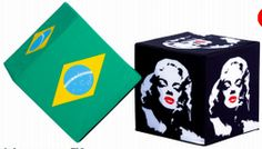 Fabrication : Pouf cube 40 x 40 x 40 cm personnalisés by 321idCom