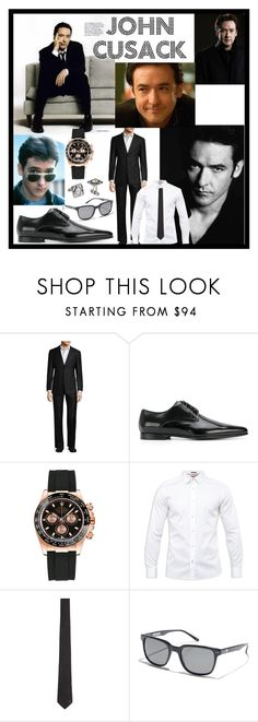 """""""John Cusack-Favorite Actor"""" by aurorasblueheaven ❤ liked on Polyvore featuring Armani Collezioni, Dolce&Gabbana, Rolex, Ted Baker, Versace, Quiksilver, La Perla, men's fashion and menswear"""