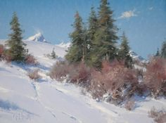 Oil painting art videos on how to paint trees, rocks, water and mountains in the landscape from Matt Smith, a nationally acclaimed artist and workshop teacher Mountain Landscape, Winter Landscape, Landscape Art, Landscape Paintings, Painting Snow, Winter Painting, Winter Art, Winter Snow, Mountain Paintings