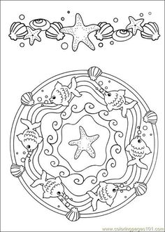 ☮ American Hippie Art ~ Color it Yourself . Seashore Mandala Make your world more colorful with free printable coloring pages from italks. Our free coloring pages for adults and kids. Mandala Coloring Pages, Coloring Book Pages, Printable Coloring Pages, Coloring Sheets, Coloring Pages For Kids, Embroidery Patterns, Creative, Prints, Yellow Things