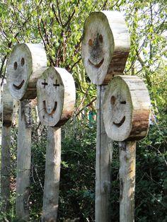 Wooden art. Natural feeling. Great garden design.