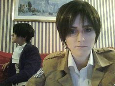 Yes he is levi xD this is so cute i luv these two cosplayers they always make my day,Also cause they ship Eren and Levi