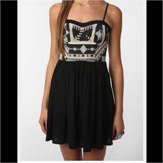 Black Tribal Spaghetti Strap Dress Never Worn