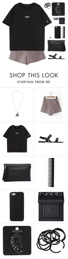 """""""you call me monster"""" by theglampedia ❤ liked on Polyvore featuring GHD, NARS Cosmetics, Topshop and H&M"""
